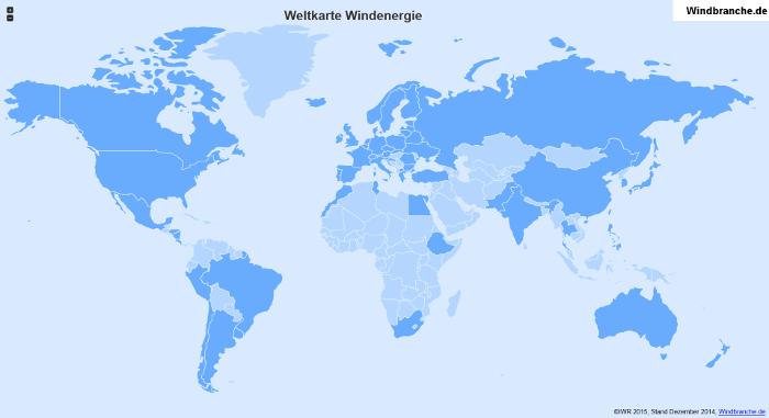 Karte Windenergie weltweit Windbranche 700 338